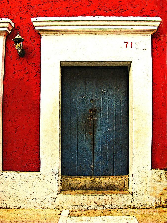 Michael Fitzpatrick Photograph - Blue Door By Michael Fitzpatrick by Mexicolors Art Photography