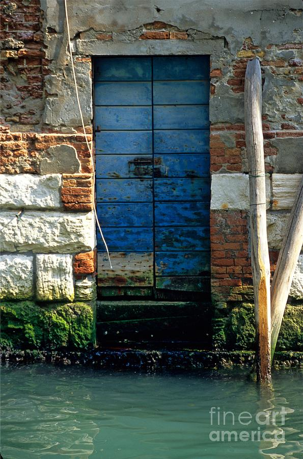 Venice Photograph - Blue Door in Venice by Michael Henderson