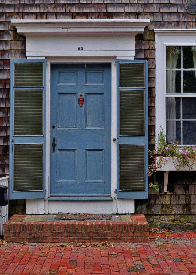 Nantucket Photograph - Nantucket Blue Door by JAMART Photography
