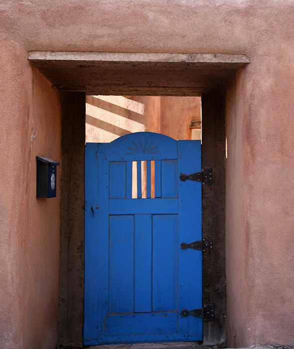 Santa Fe Photograph - Blue Door by Melissa Laitman