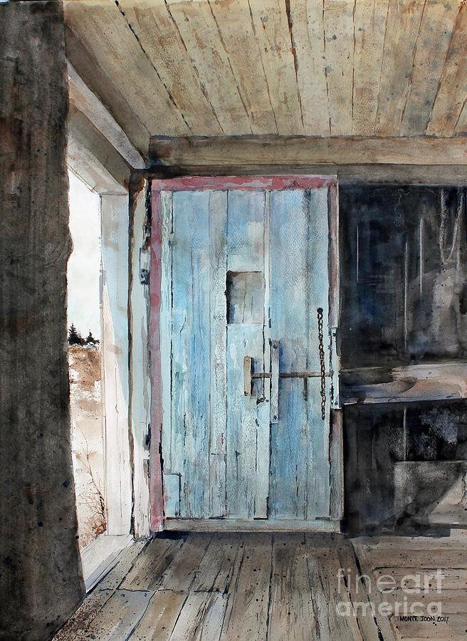 New Brunswick Painting - Blue Door  by Monte Toon