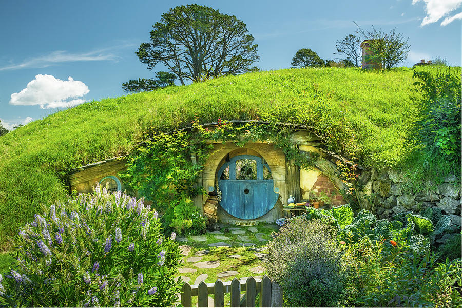 Hobbiton Photograph - Blue Door by Racheal Christian