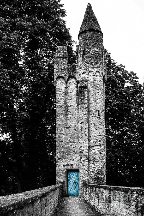 Tower Photograph - Blue Door Tower by Amy Sorvillo