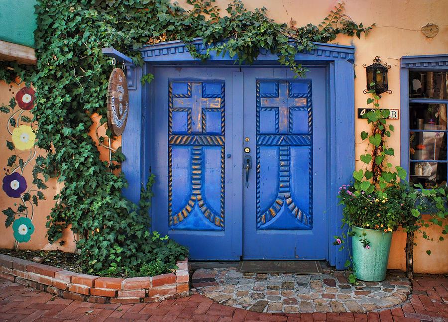 Blue Doors Photograph - Blue Doors - Old Town - Albuquerque by Nikolyn McDonald  sc 1 st  Fine Art America & Blue Doors - Old Town - Albuquerque Photograph by Nikolyn McDonald pezcame.com
