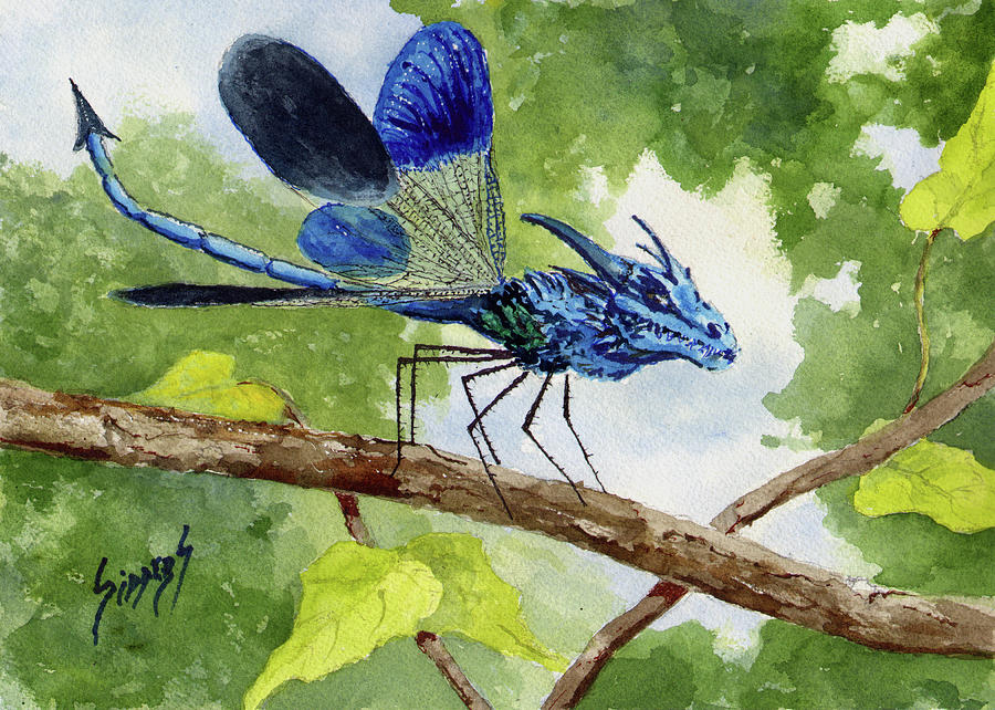 Blue Dragonfly by Sam Sidders
