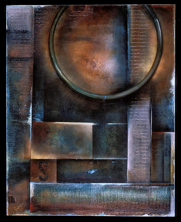 Blue Drop Painting by Stephen Schubert