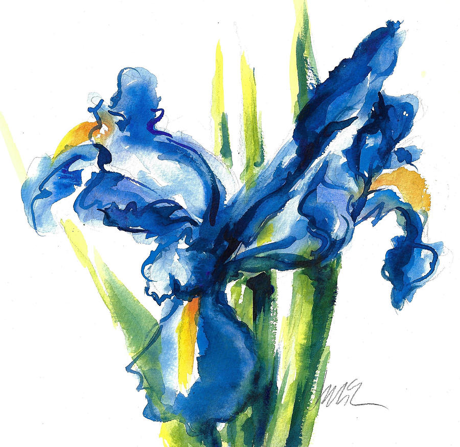Blue dutch iris flower painting painting by jacki kellum dutch iris painting blue dutch iris flower painting by jacki kellum izmirmasajfo