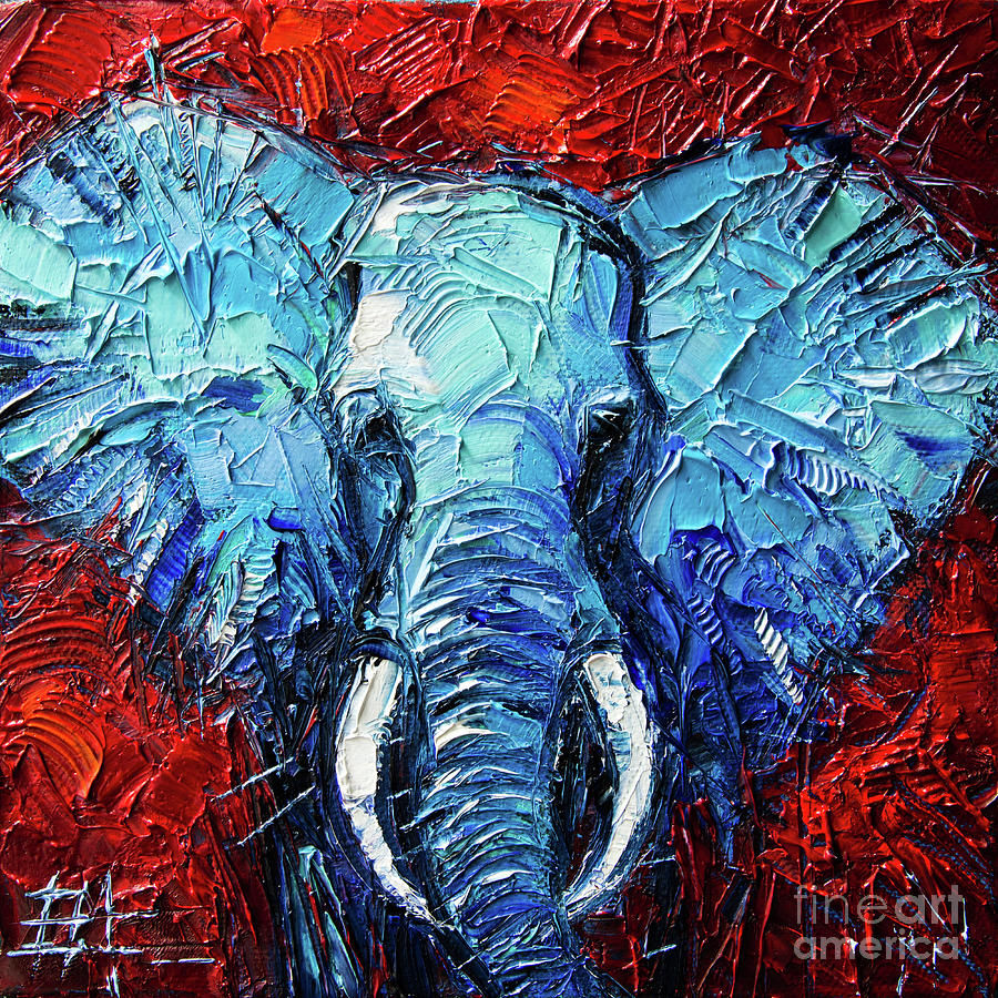 Abstract Oil Painting Elephant