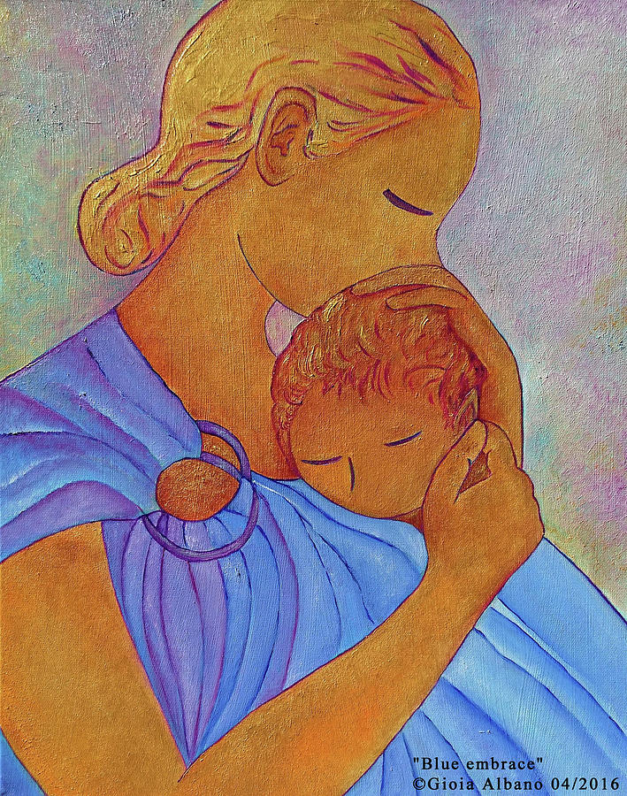 Blue Embrace Painting by Gioia Albano