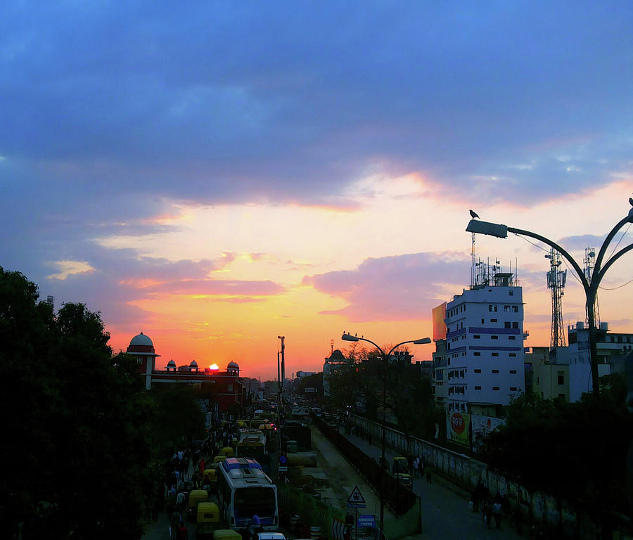City Photograph - Blue Evening Sky by Atullya N Srivastava
