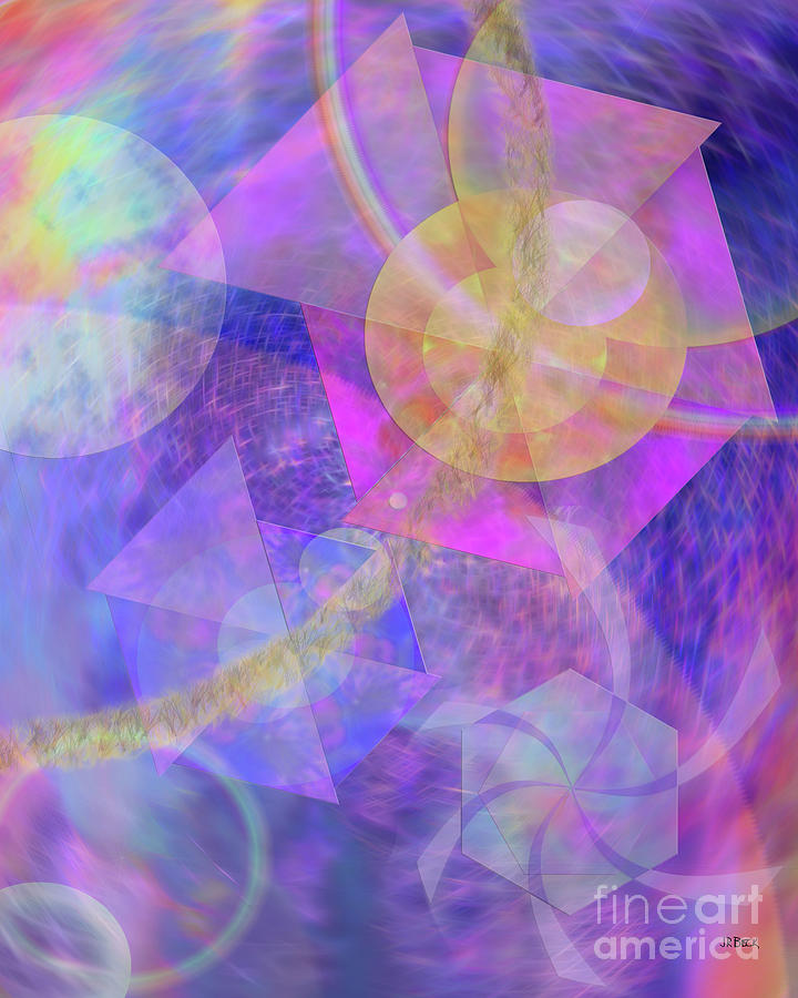Abstract Digital Art - Blue Expectations by John Beck