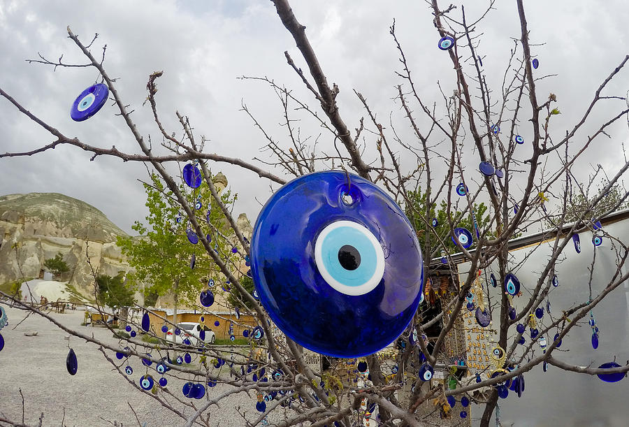 Evil Eye Photograph - Blue Eye Nazar by Freepassenger By Ozzy CG