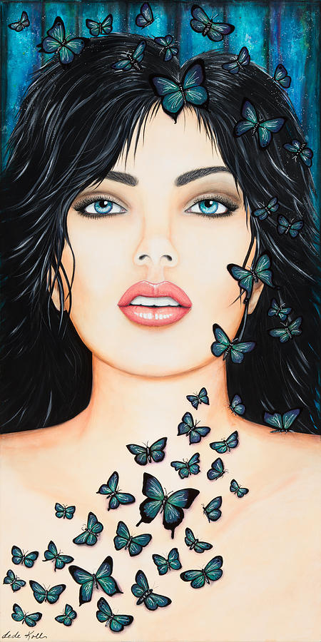 Blue Eyes and Butterflies by Dede Koll