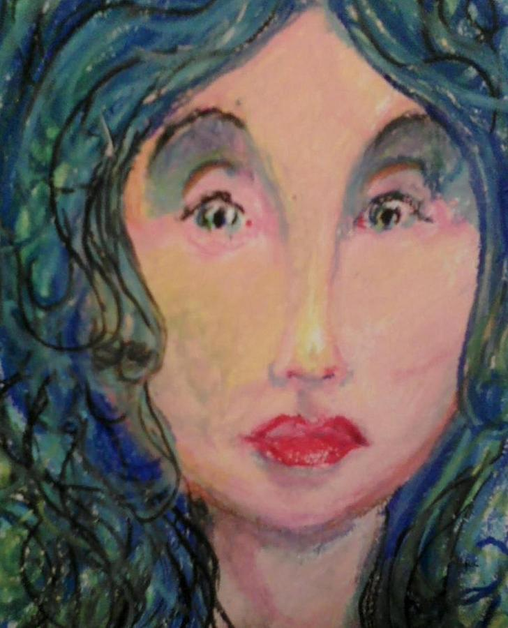 Art By Derrick Hayes Mixed Media - Blue Eyes by Derrick Hayes