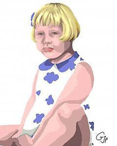 Children Digital Art - Blue Eyes by Pamela Benjamin
