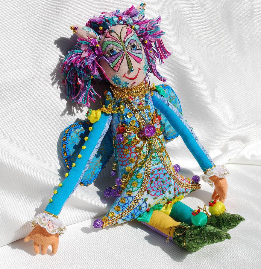 Doll Tapestry - Textile - Blue Fairy by Tamara Konovalova