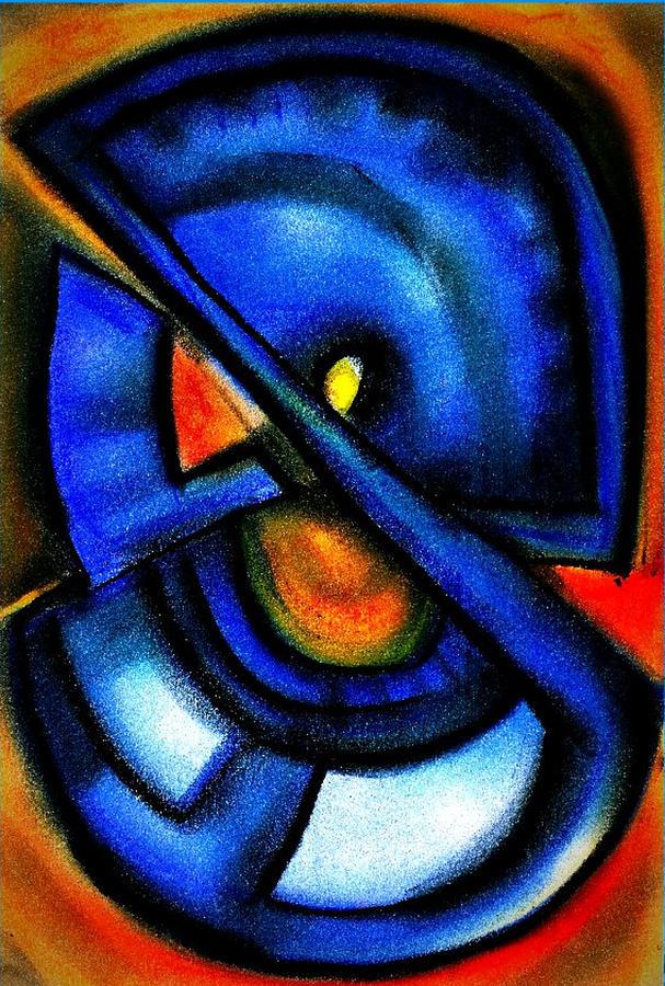 Blue Fans - Pastels Digital Art by J Kamaru