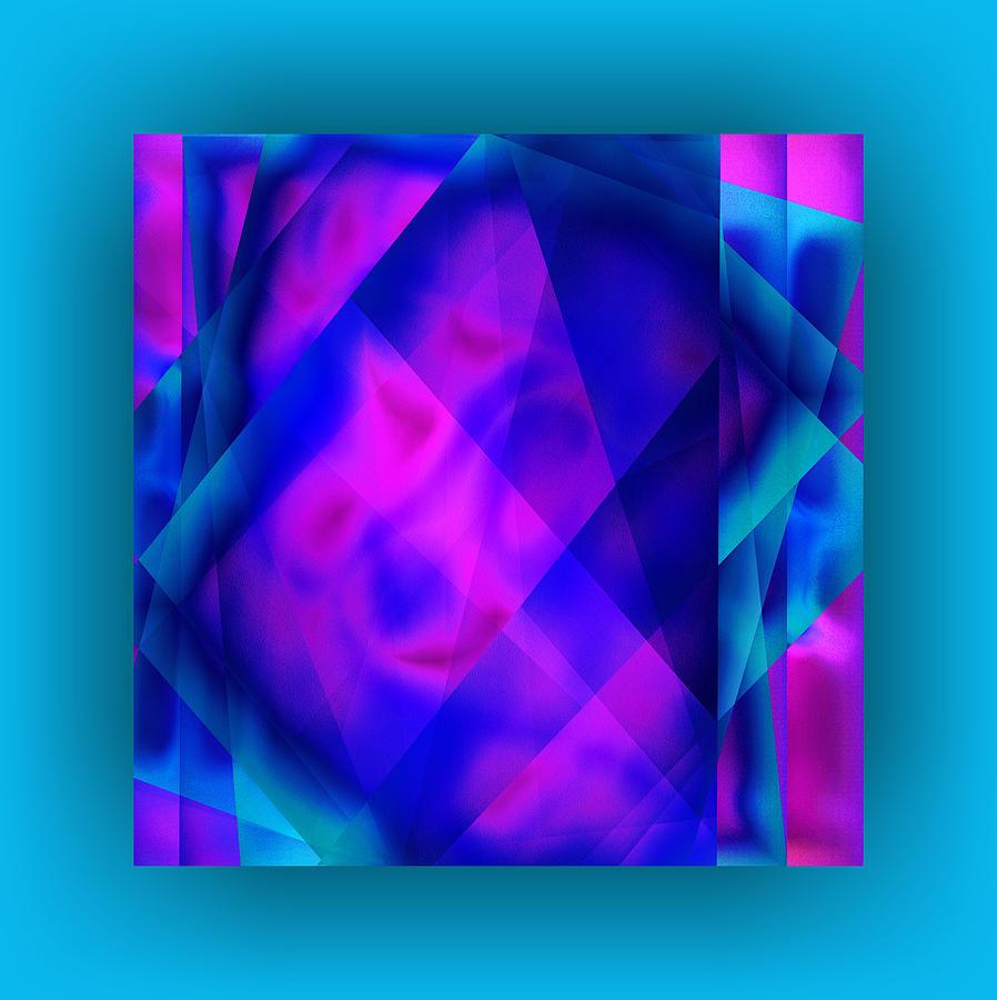 Pink Digital Art - Blue Fashion by Mihaela Stancu