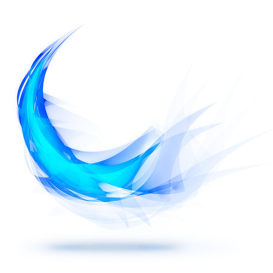 Abstract Painting - Blue Feather by Setsiri Silapasuwanchai