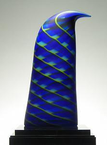 Blown Glass Glass Art - Blue Fin by Nancy Callan