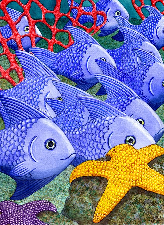 Fish Painting - Blue Fish by Catherine G McElroy