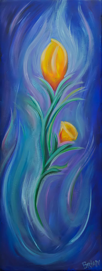 Flower Painting - Blue Flower by Brian Nunes