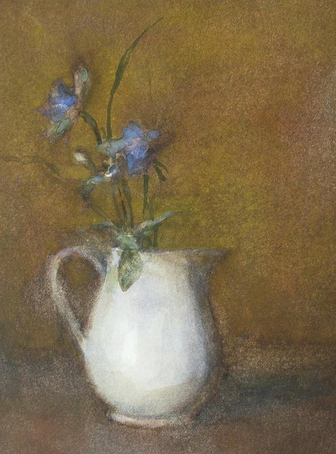 Floral Still Life Painting - Blue Flower by Joan DaGradi