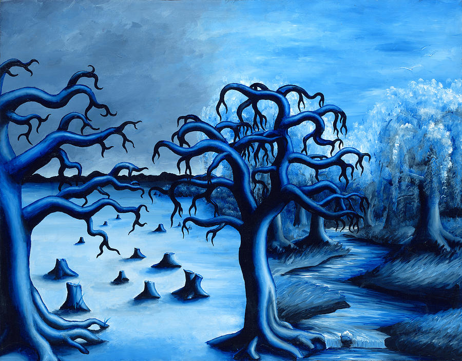 Blue Painting - Blue Forest by Jennifer McDuffie