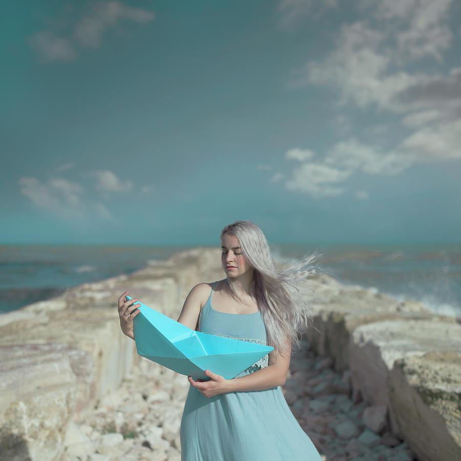 Portrait Photograph - Blue by Francesca Ciavarella