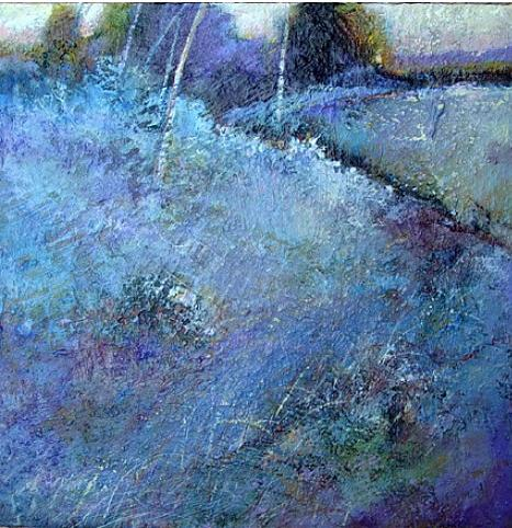 Landscape Painting - Blue Frost by Dale  Witherow