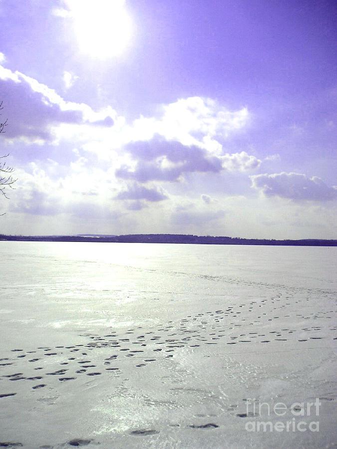 Frozen Lake Photograph - Blue Frozen Lake by Silvie Kendall