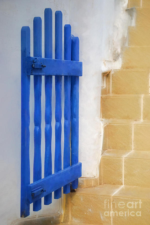 Greece Photograph - Blue Gate by HD Connelly