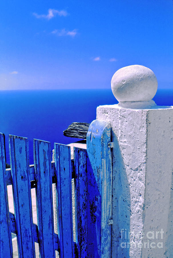 Blue Photograph - Blue Gate by Silvia Ganora