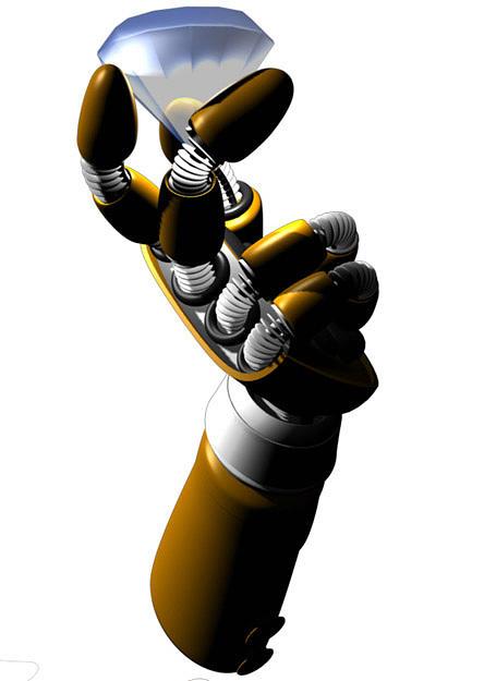 Robot Digital Art - Blue Gem by Guicap