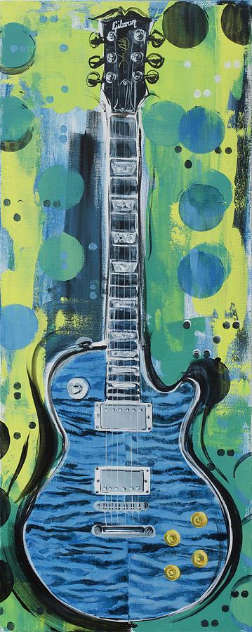 Blue Gibson Guitar by John Gibbs