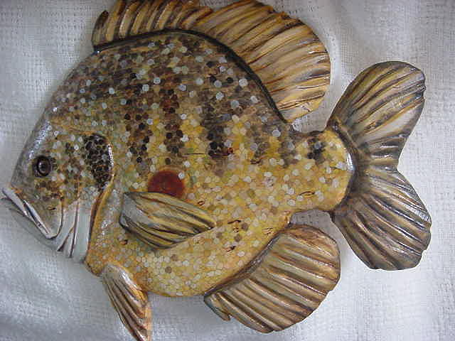 Blue Gill Painting - Blue Gill Number Two-sold by Lisa Ruggiero