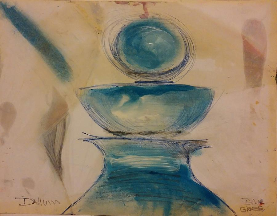 Painting - Blue Glass by Gregory Dallum