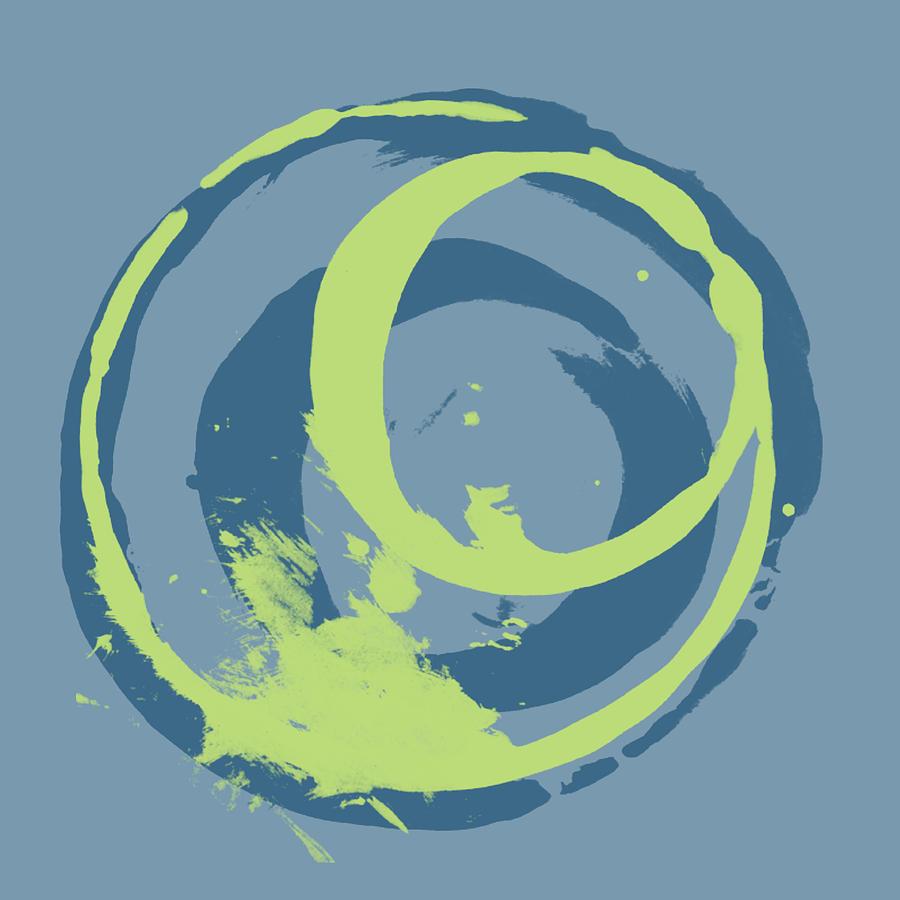 Green Painting - Blue Green 2 by Julie Niemela