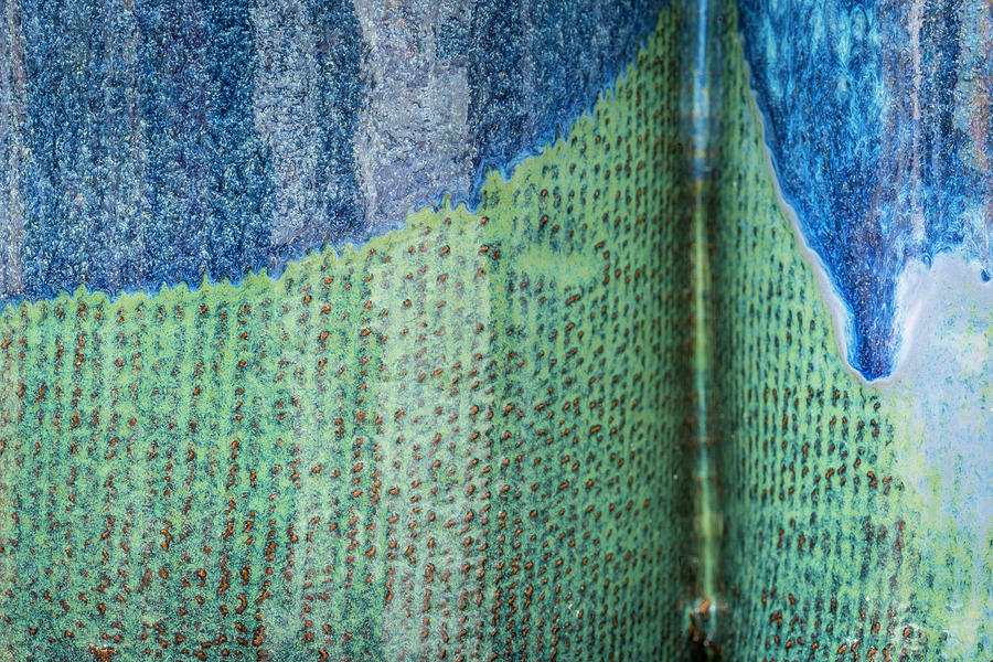 Blue/Green Abstract by David Waldrop