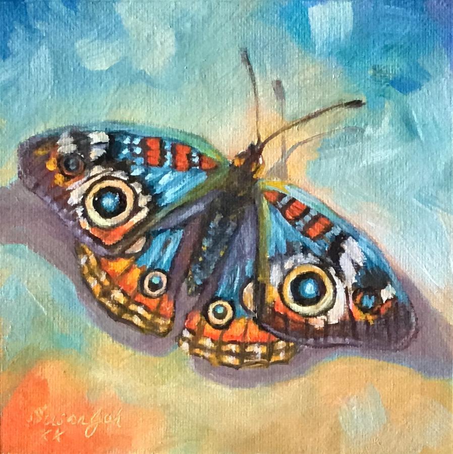 Buckeye butterfly by Susan Goh