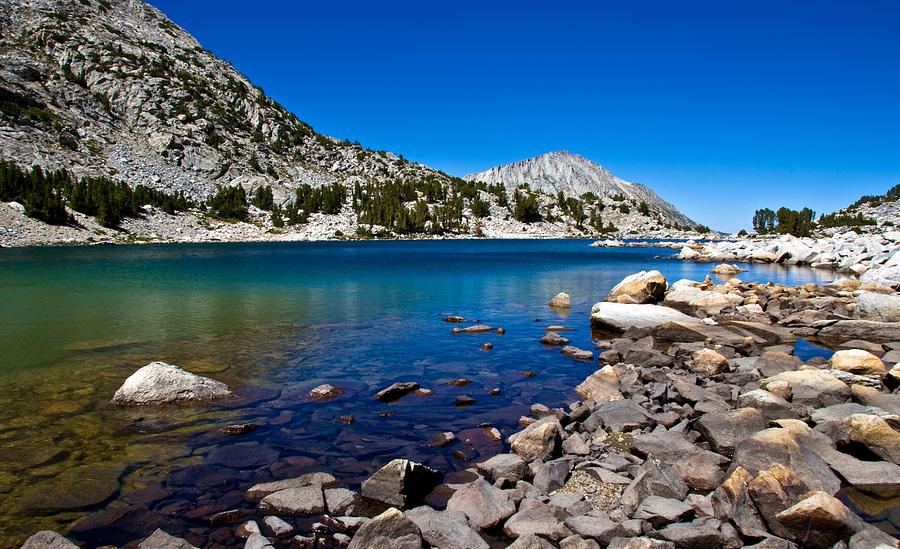 Mountain Lake Photograph - Blue Green Treasure Lake by Chris Brannen