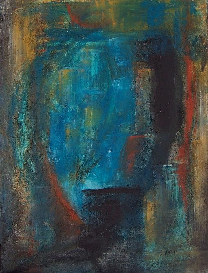 Abstract Painting - Blue Grotto by Karen Day-Vath