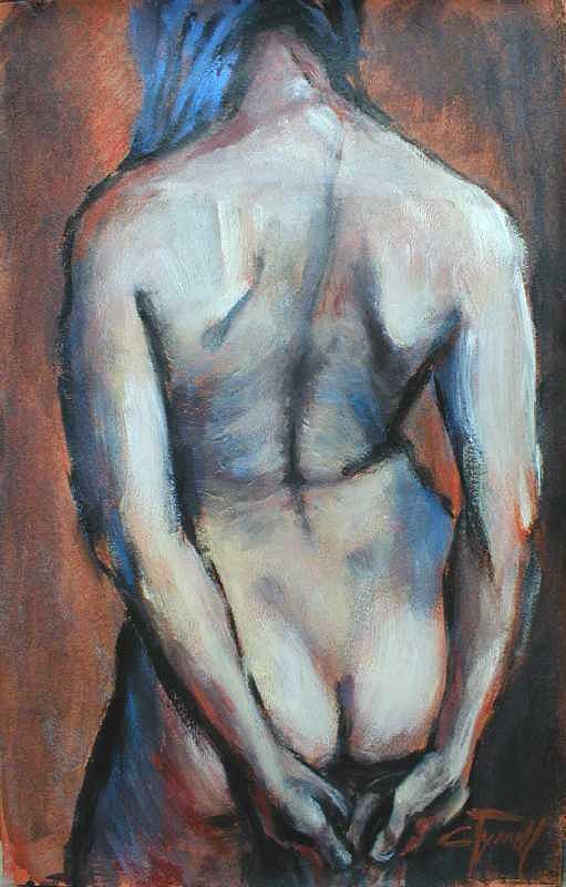 Blue Hair Painting by Carmen Tyrrell