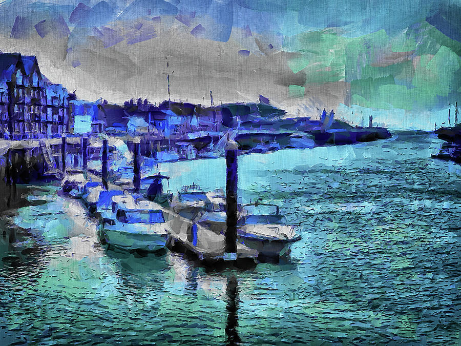River Arun Digital Art - Blue Harbour by Leigh Kemp
