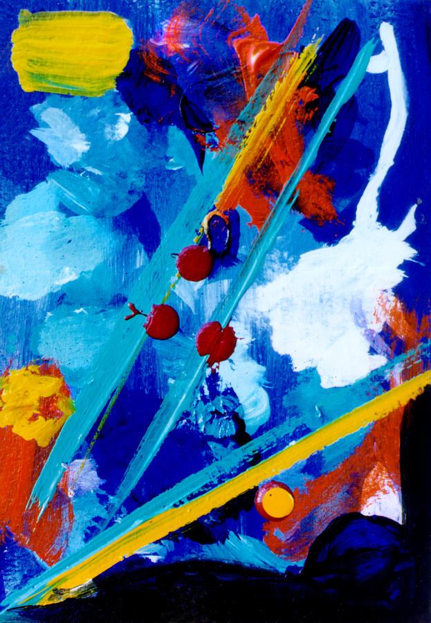 For Sale Painting - Blue Harmony  #128 by Donald k Hall
