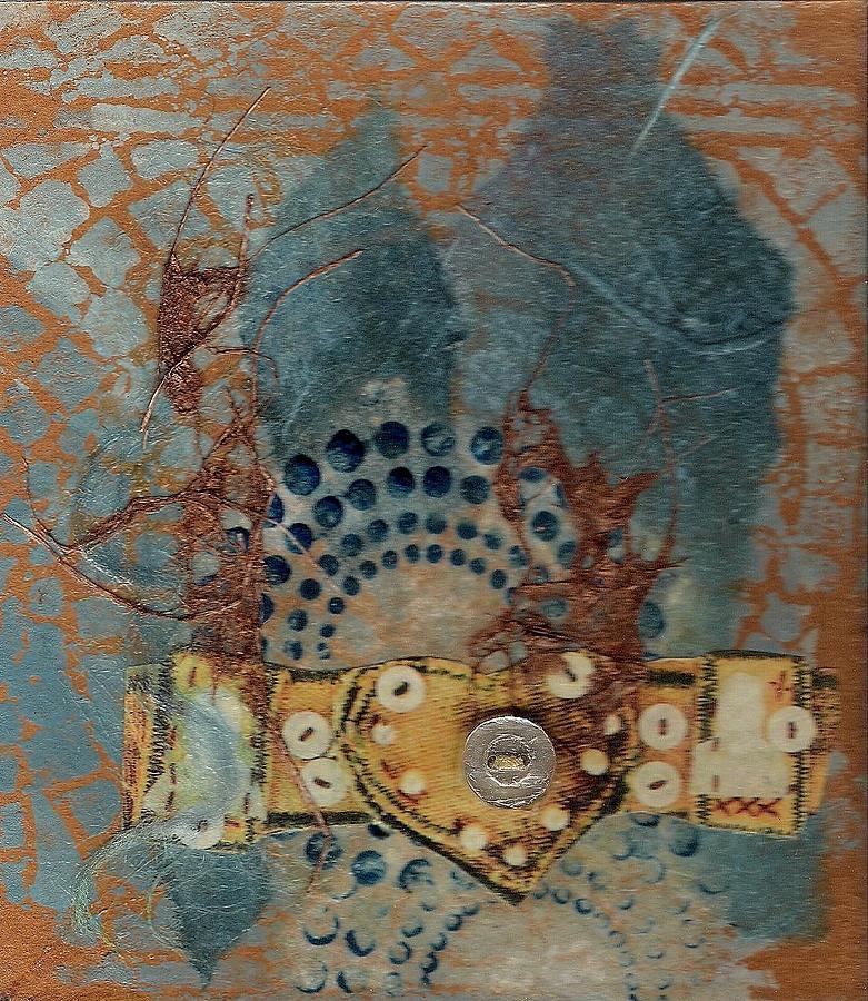 Mixed Media Mixed Media - Blue Heart by Tara Milliken