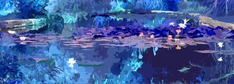 Water Lilies Photograph - Blue Heaven by John Lautermilch