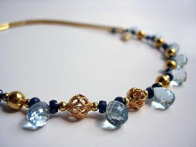 Designer Necklace Jewelry - Blue Heaven by Mia Katrin