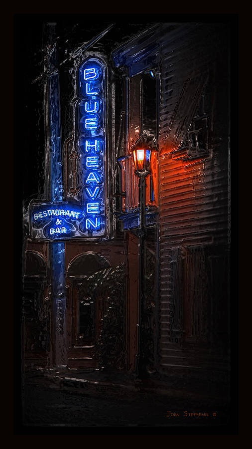 Blue Heaven Photograph - Blue Heaven Rendezvous - Key West Bar - Florida by John Stephens