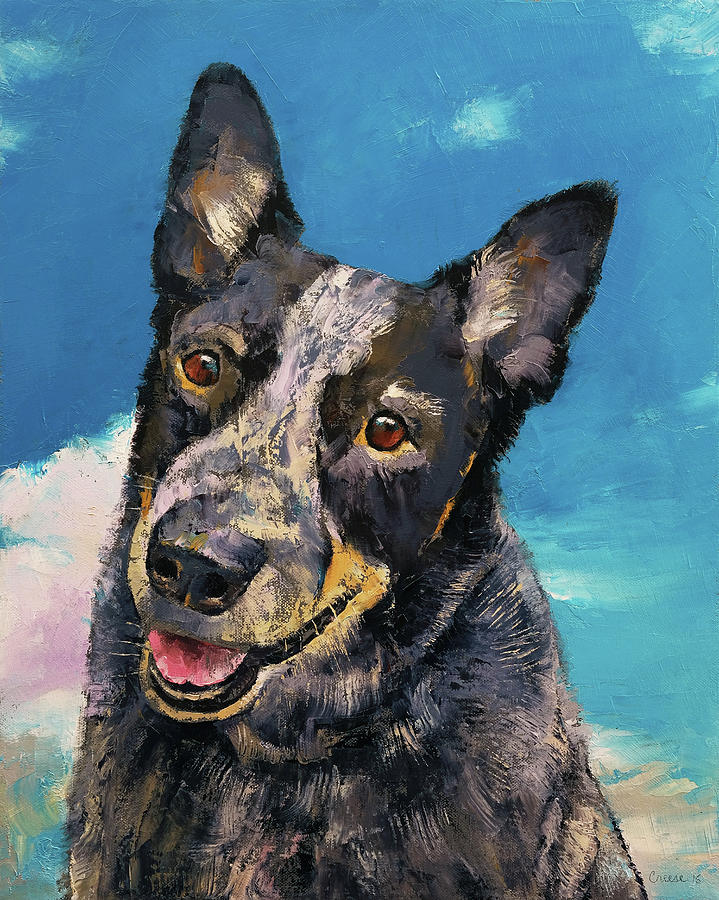 Dog Painting - Blue Heeler by Michael Creese